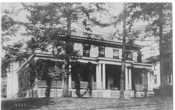 circa 1908 photo of the Rogers House